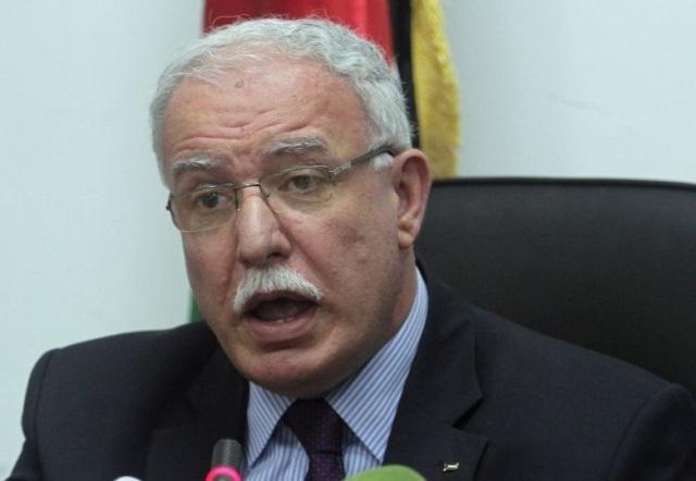 Palestinian Foreign Minister Riyad al-Maliki