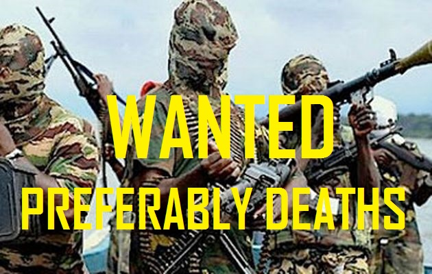 Boko Haram terrorists preferably deaths