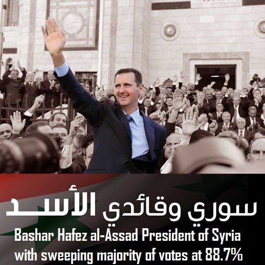 Bashar Hafez al-Assad President of Syria-votes at 88_7