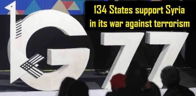 G77-134 States support Syria in its war against terrorism