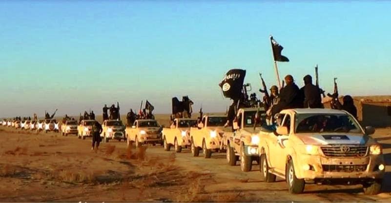 Convoy of identical Toyota pickup trucks, reminding us the NATO-Saudi-Qatar conspiracy in support to the jihadist mercenary gangs in Libya