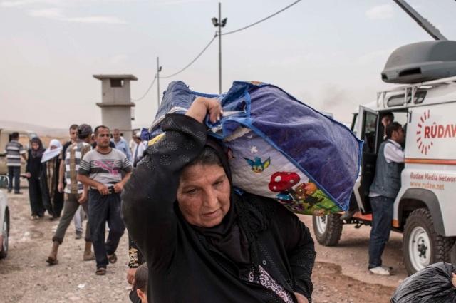 Popolazione in fuga da Mosul