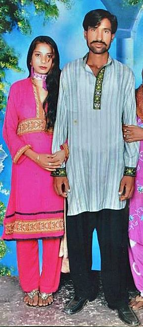 Shahzad Masih and his wife Shama